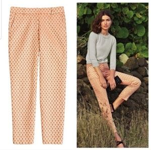 J. Crew Collection Cafe Capri in Gilded Brocade
